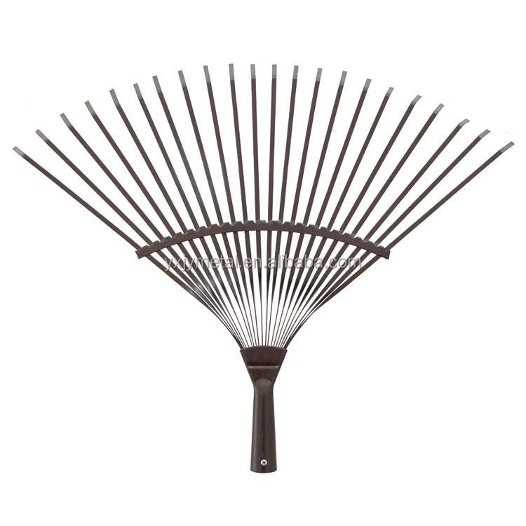 Wholesale high carbon steel metal garden rake steel leaf for Gardening tools jakarta