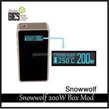 GIES Wholesale Legal High Snow Wolf Box Mod Snow Wolf 200w Authentic Box Mod Original SnowWolf 200w