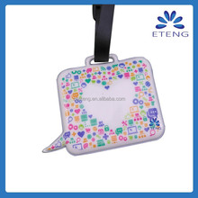 holiday flying airbus personal luggage tags with name card
