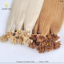 Hot!! 100% Real Human Hair Guaranteed Italy Socape Keratin Soft Safe Indian hair best quality nail hair