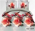 la promoción y rosa mariposa 3d conjunto ropa de cama