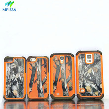 2in1silicon and plastic printing cell phone case for iphone