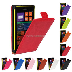 Crazy Horse Leather Slim Light Flip Case Cover For Nokia Lumia 520