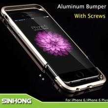 Luxury Aluminum Bumper Case For iPhone 6 Plus With Screws