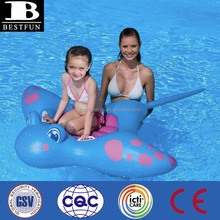 customized pvc Inflatable manta ray children's ride on toy kids plastic used ride on toy