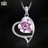 CDE Imitation Jewellery in China Best Friend Heart Necklace 2015