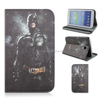 Black Batman PU Leather Tablet Case For Samsung Galaxy Tab 3 7inch P3200/T210/T211 That Can Flip Turn Stand