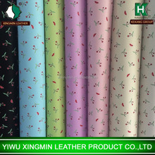 Hot sale printed Cherry and Lips grain pvc leather