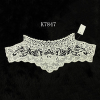 Patterns crochet neck designs guipure crochet stylish embroidery women cotton lace collar patterns for dress