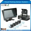 with 7 inch lcd display Auto beeper-intelligent truck trailer wire ultrasonic parking sensor system
