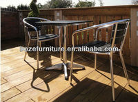 Outdoor Bistro polywood furniture/ plastic wood chair and table