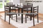 mobiliário de madeira sala de jantar 1+4 mesa de jantar e cadeira de jantar - STARTER