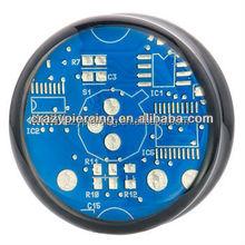 Hot Selling Pretty Acrylic Ear Expander Blue Circuit Board Double Flared UV Piercing Jewelry Body Ear Plugs