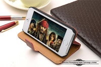 China wholesale Simple Style PU Leather cover case for iPhone 5/5S