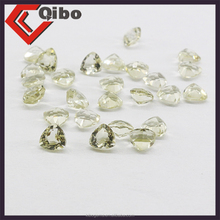 Hot sell AAA High Quality Lemon Quartz Fat triangl shape Gems tone 4*4MM Cheap Wholesale Price