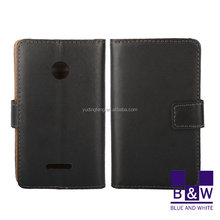 Business Stylish Flip Leather Back Cover Case for Nokia Lumia 532 with Stand