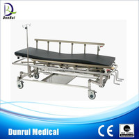 DR-201A CE Marked Stainlee Steel Three Functions Patient Transfer Trolley