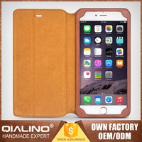 QIALINO Extreme Slim Professional Elegant Top Quality Cell Phone Leather Case For Iphone6 Customization