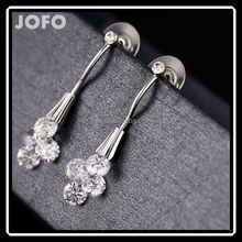 Simple and Fancy Women Zircon Drop Earring Rose Golden and Platinum Plated