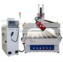 wood carving and engraving auto tool changer cnc router machine 4 axis with 9 kw HSD rotary spindle
