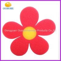 flower shape funny baby bath sponge kids bath toy