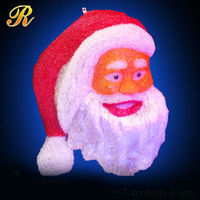 Christmas outdoor resin santa heads