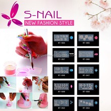 Hot sell 134 designs acrylic nail mold, art molds, nail 3d decoration