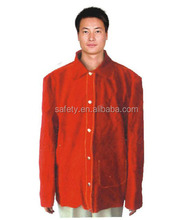 Cow Split Leather Long Sleeve Protective Welder Safety Coat Welding Clothes