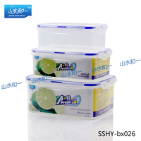 ratalling promotional 3pcs in one set bx-023 microwavable airtight food container kit plastic portion crisper with lock
