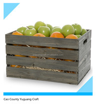 New popular wood wine crates for sale/ cheap vintage wooden fruit crates for wholesale