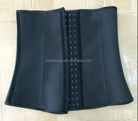 hot sale black color style waist training corsets wholesale in stock outlet