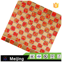 Hot sale cold spraying swimming pool tile stone mosaic design for building material facade tiles