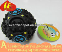 Funny Black Rubber Material Vocal Ball Toy to Store Food for Pet
