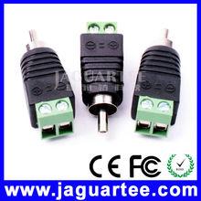 fácil y sencillo de manejar rca conector macho para circuito cerrado de televisión