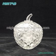 High quality glass herb apple storage jar