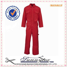 Sunnytex adult age group red colour high quality workwear industrial 2015 jumpsuit