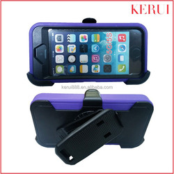 2015 Kickstand robot triple defender case wholesale custom phone cover case for iphone