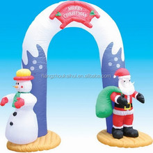Decoration inflatable santa claus and snow man door for christmas gifts