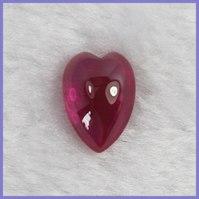 pear and heart shape cut crystal clear ruby beads for jewelry