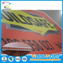 uv screen printing plastic corflute lawn signs and stakes