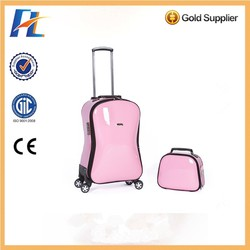 kaluobin alibaba china supplier hot new pc abs girls sky travel luggage