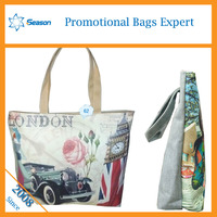 freehand sketching zipper canvas bag popular canvas bag