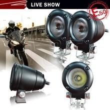 Universal LED Turn Signal Lights Blinker Chrome Motobikes Amber Flasher Signals Light for Black Motorcycle Custom
