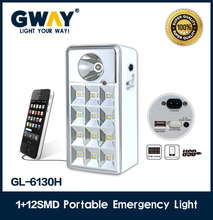 1W led +12pcs 5050SMD solar rechargeable led lighr,Rechargeable led camping lantern with usb function,transformer led light