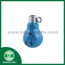 HS725 brass cartoon jingle bell blue bulb keychain bell light small bell lamp jingle bell
