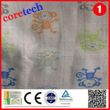 Breathable natural cotton printed muslin fabric factory