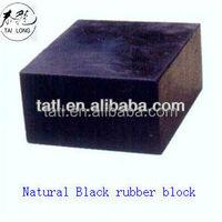 Hard rubber block