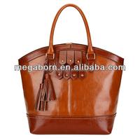 2015 Latest Bags Designer Vintage Tassel Leather Women Fashion Tote Bag