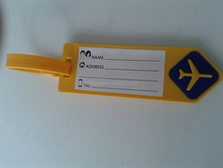 hot selling rubber airline luggage name tag