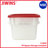 NSF Approval 6QT White Plastic Food Storage Container With Red Lid